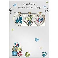 Hallmark New Baby Card For Boy 'The Sweetest Joys' - Medium