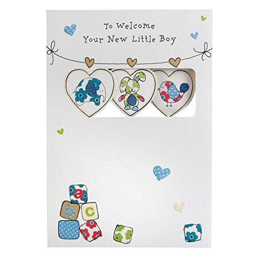 Hallmark New Baby Card For Boy The Sweetest Joys - Medium