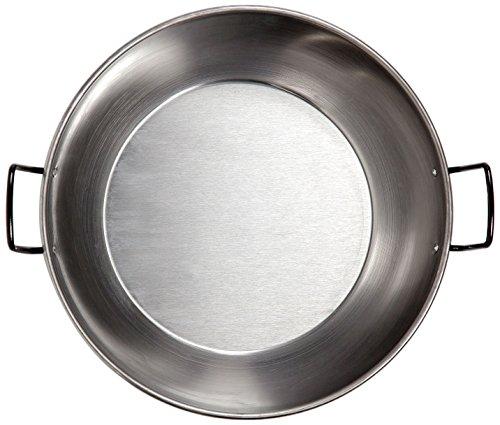 La Valenciana Bratpfanne, polierter Stahl, 18cm, mit 2Griffen, Schwarz, schwarz, 26 cm