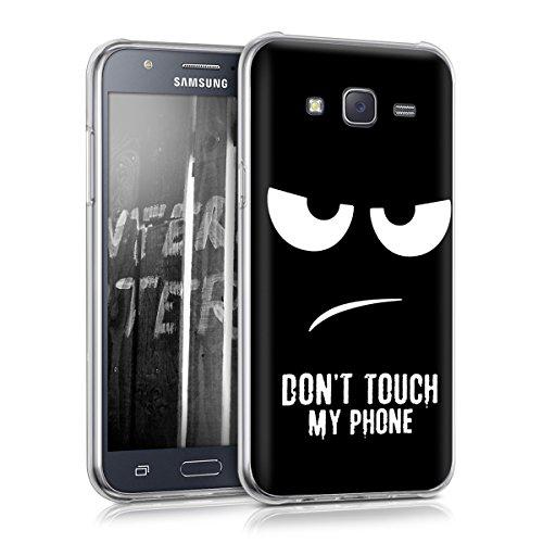 kwmobile Crystal Case Hülle für > Samsung Galaxy J5 (Version 2015) < - TPU Silikon Cover im Don't touch my Phone Design