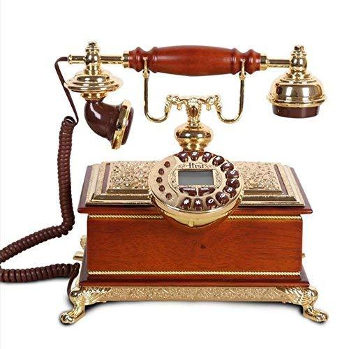Gesundheit UK Telefon - Villa Holz Retro Telefon Privat Festnetz Klassisch Kreativ Telefon Europäisches Büro Königliches Telefon Willkommen - Klassische Hand Geschnitzte Holz