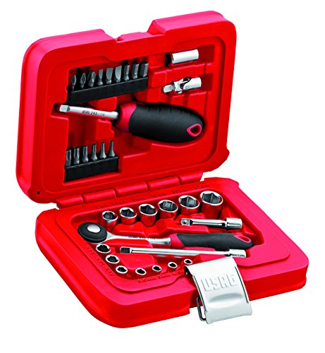 Usag 601 1/4 j34 u06010001 assortimento in cassetta modulare con bussole esagonali ed inserti per avvitatura (34 pezzi)
