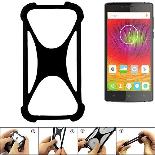 K-S-Trade Handyhülle für Cubot S600 Schutz Hülle Silikon Bumper Cover Case Silikoncase TPU Softcase Schutzhülle Smartphone Stoßschutz, schwarz (1x)