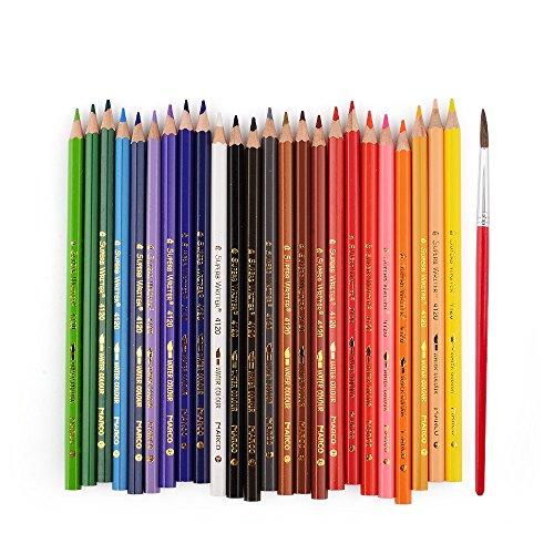 Marco 24agua Color Dibujo Lápiz 4120–24CB mejor soluble en agua de colores lápiz Set para adultos Libros para Colorear Dibujo Lápiz Arte