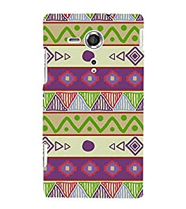 Ethenic Tribal Art 3D Hard Polycarbonate Designer Back Case Cover for Sony Xperia SP :: Sony Xperia SP M35h