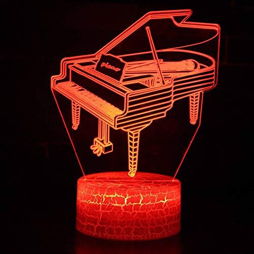 BINGXY Led Nachttischdekoration Schlafzimmer Nachtlichter Usb 3D Klavier Modellierung 7 Farbwechsel Tischlampe Baby Schlaf Lamparas Beleuchtung Geschenke