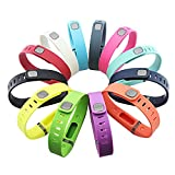 GinCoband 12PCS Fitbit Flex Wristband Replacement Accessory Band with Clasp For Fitbit Flex Bracelet Sport Arm Band No tracker (Large)