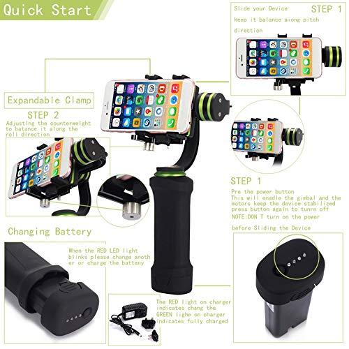 Yaoaomon Lanparte HHG-01 Stabilisateur de cardan portatif à 3 Axes pour Smartphones/iPhone