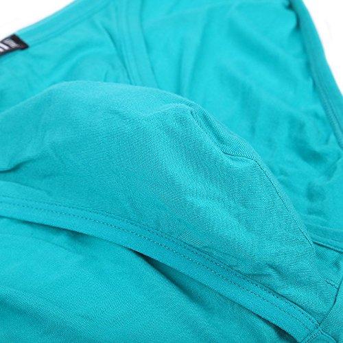 JINSHI Herren Bambusfaser sexy Slip Unterwäsche Triangle Unterhose Multi-4Pack-02