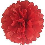 """rojo, 10 """"/25 cm Pack de 10 pompones de papel de seda boda decoración más de 20 colores a elegir Pom Pom"""