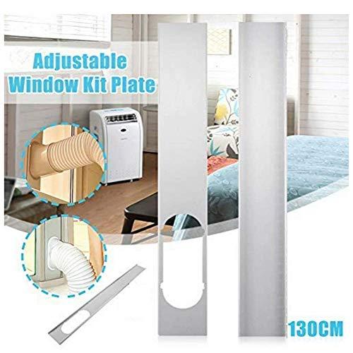 Shinsaky Adaptador de Ventana/Placa de Kit de Ventana, 2 Piezas Placa de Kit de Ventana Ajustable Manguera de Escape / 6 '' Conector de Adaptador de Ventana Aire Acondicionado portátil(130CM)
