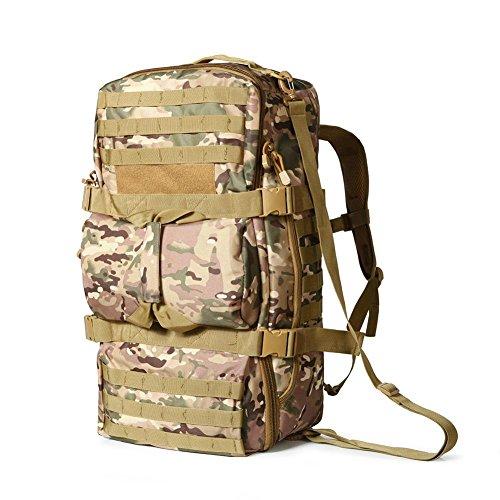 Rucksack 50L Taktische Camouflage Tasche Wandern Portable Eine Schulter Schultern Mehrzweck Outdoor Rucksack desert digital