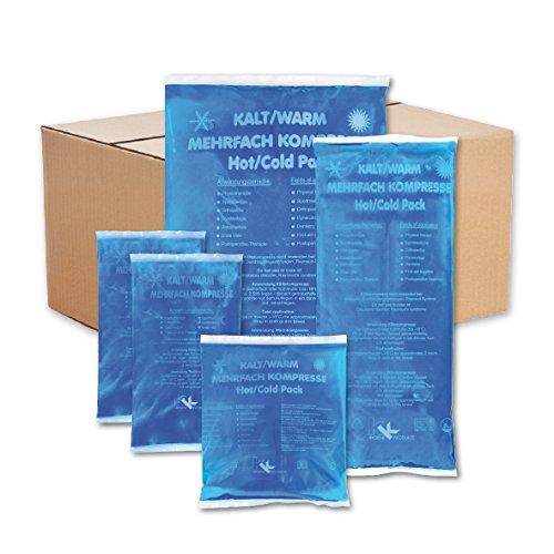 KK-Hygiene Kalt-Warm Kompressen Set Mehrfachkompressen 5 teiliges Set mit verschiedenen Größen, mikrowellengeeignet -