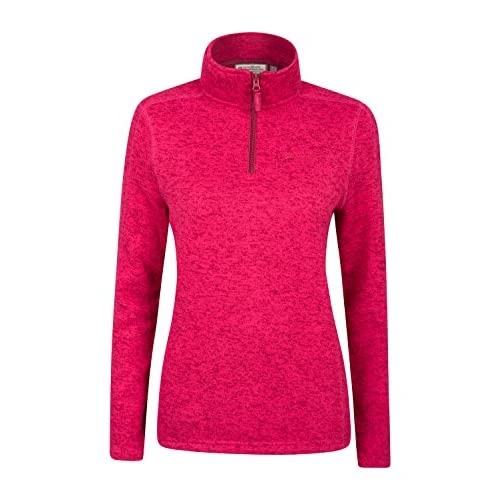 511GxU1fP6L. SS500  - Mountain Warehouse Idris Womens Half Zip Fleece Jacket - Soft Touch, Breathable Coat, Quick Drying, Antipill Ladies Top - for Walking, Travelling in Cold Weather