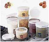 Luftdicht Küche Körner Luftdicht Kunststoff Transparent Aufbewahrungsbox Food dosen Lebensmittel Pufferspeicher Reis dosen [speicher jar]-A