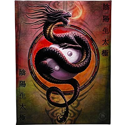 Fantastic Anne Stokes Design Yin Yang Protector Canvas/Wall Plaque