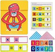 Yuanqu Juguetes para Contar el Equilibrio para niños, Juegos educativos de matemáticas para jardín de Infantes