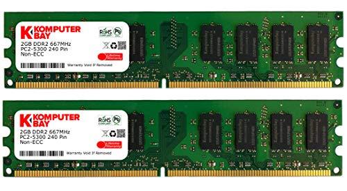 Komputerbay 4GB 2X2GB DDR2 667MHz PC2-5300 PC2-5400 (240 PIN) DIMM Desktop-Speicher - 533 Mhz-pc2