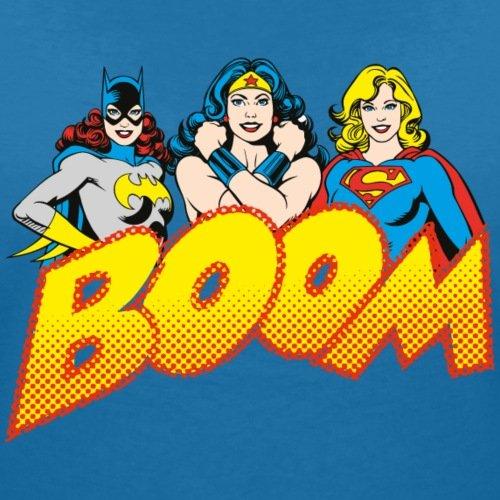 DC Comics Originals Super-Héroïnes Rétro T-shirt col V Femme de Spreadshirt® bleu paon