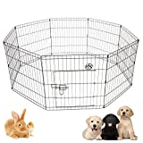 Cozy Pet Puppy Playpen for Dogs Puppies Rabbits Guinea Pigs, Puppy Play Pen Whelping Pen Dog Cage Puppy Crate Rabbit Run 4 PP01 (We do not ship to the Channel Islands or The Isles of Scilly.)