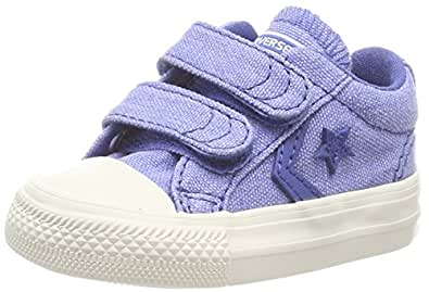 Converse Unisex-Kinder Star Player EV 2V OX Nightfall Blue Fitnessschuhe, Blau (Nightfall Blue/Nightfall Blue 441), 25 EU