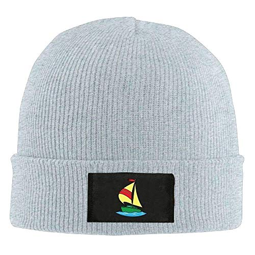 yimixiang Sailing Cap Winter Knitting Warm Watch Hat Skull Cap for Unisex Black One Size Fit All