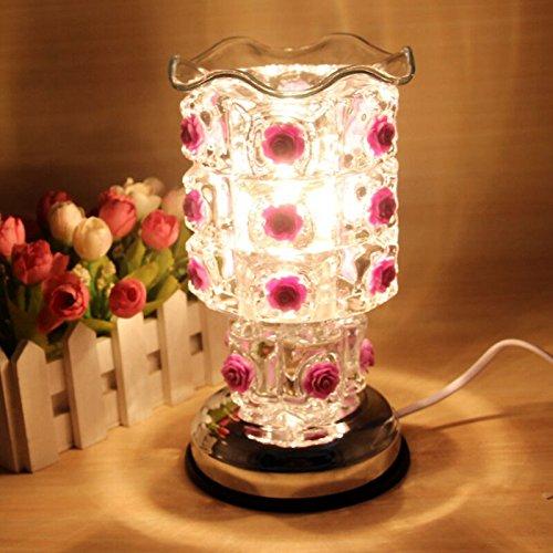 SQDTNSLT-Creative plug-in aromaterapia elettrico olio essenziale di rose aroma regolabile induzione forno elettrico ornamenti a casa di notte le luci