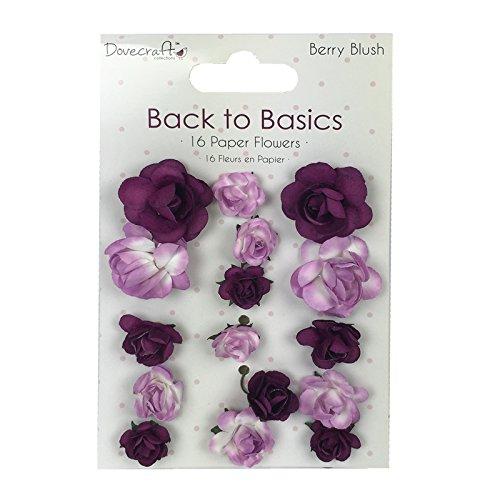 trimcraft-dove-craft-back-to-basics-berry-blush-flores-de-papel-13-tamanos-variados-acrilico-multico