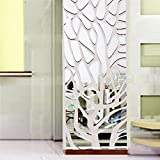 Cloud-Castle DIY Miroirs Sticker Mural Sticker Mural Décoration pour Salon Bains Décor 45*100cm, Argent … (M2)...