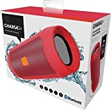 WireZone Wireless Splashproof Portable Wireless Bluetooth Speaker with Built-In Mic and PowerBank- red color