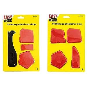 Kit 4 spatules pour joint en silicone et acrylique - 4 formes