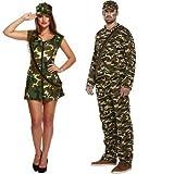 & pour femme Kaki Camouflage militaire Armée Soldat Ensemble de Costumes Daphné