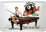 Blechschild 20x30 cm Eight Ball Ale Bier Pool Billard Tisch pin up girl Schild