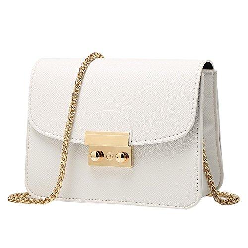 West See Kleine Damentasche Umhängetasche Citytasche Schultertasche Handtasche, Farbenwahl (Weiß)