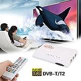 Hongfei (UK-Stecker) TV-Empfänger, HD1080P DVB-T2 TV-Box TV Terrestrischer Empfänger H.265 HEVC USB LAN + HDMI HM