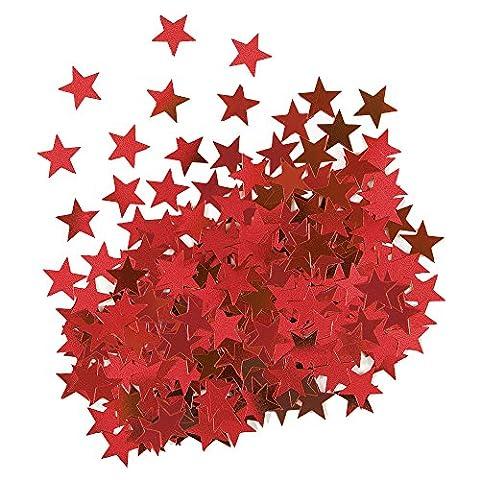 Unique Party - 91115 - Confettis Rouge en forme d'Étoile