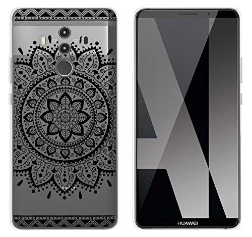 yayago Hülle für Huawei Mate 10 Pro/Mate 10 Pro Dual Silikon Schutzhülle Hülle Case Backcover Tattoo Ornament Tribal Design transparent Tasche