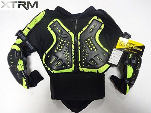 Xtrm Kinder Motorrad Enduro Off Road Körper Rüstung Jacke Schutzweste (6 bis 14, Mehrere Farben) - Camo Grun - 6