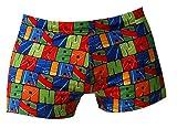 BRUNO BANANI Herren Badehose Swimwear Badeshort Schwimmshort COLOUR RUN DRUCK, Grösse:L - 6 - 52;Farbe:mehrfarbig