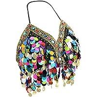 B Blesiya Top Donna Con Frange Di Danza Del Ventre Tribale Con Paillettes E Dancewear Bikini Latino