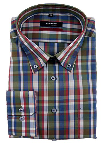 Seidensticker -  Camicia classiche  - A quadri - Con bottoni  - Uomo Multicolore