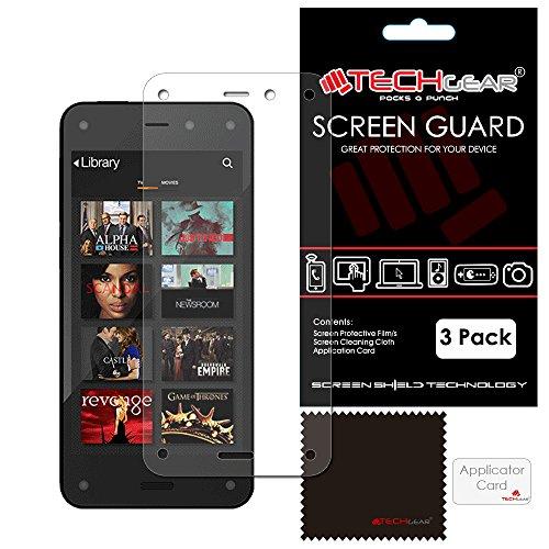 TECHGEAR Hochwertige Displayschutzfolie für Amazon Fire Phone, durchsichtig, 3 Stück