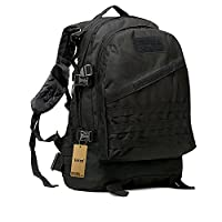 40L Mil-Tec Military Army Patrol MOLLE Assault Pack Tactical Combat Rucksack Backpack Bag Laptop Backpack for 10 to 15.6 Inch Laptops (Black)