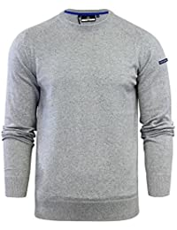 Duck & Cover Mens Jumper Alloy Knit Crew Neck Soft Cotton Blend Crew Neck Sweater