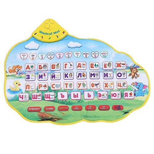 TOOGOO Kinder Lernmatte Russische Sprache Spielzeug Lustige Alphabet Matte Lernen Bildung Phonetischen Sound Teppich ABC Spielzeug (Sound Matte)