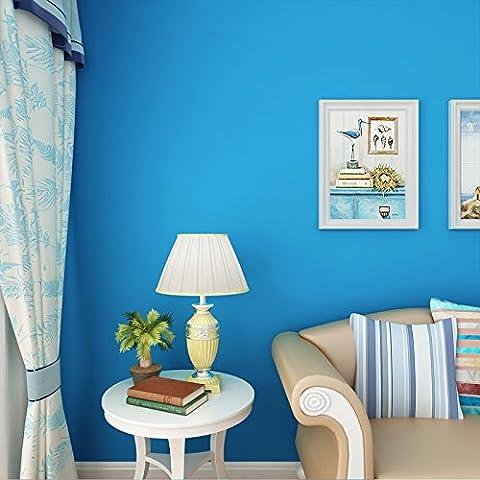 Vanme Autoadhesivo De Pvc Adhesiva De Papel Tapiz Wallpaper Joker Publicado El 10 M Instalado Om El Fondo De Dormitorio Salón Azul
