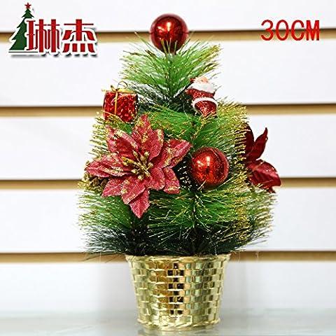 PinoalberidiNatale,ornamentidecorativi,alberidiNatalein miniatura,30Cmrosso
