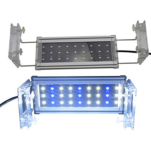Aquarium Eco LED Beleuchtung Mini Aquarium Aufsetzleuchte Fisch Tank Meerwasser Süßwasser Lampe Abdeckung Leuchte 27-43cm A117