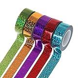 Bhty235 Ruban décoratif à paillettes décoratif Motif washi Gymnastique Rhythmique Décoration Holographique Glitter Tape Ring Stick Accessoire