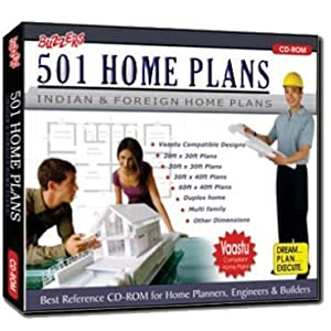 Buzzers 501 Indian Home Plans (PC CD-Rom) VAASTU COMPLIANT PLANS